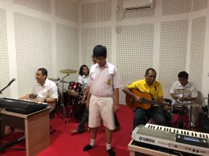 Musical classroom scene