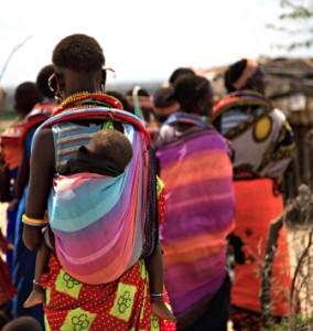 Samburu women and children