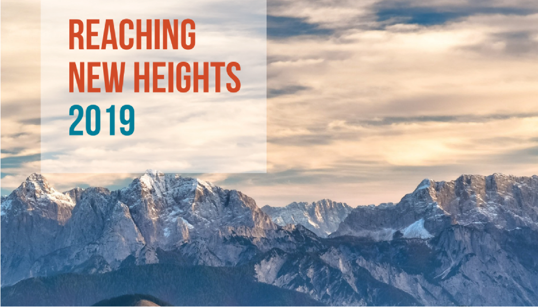 Reaching new heights graphic